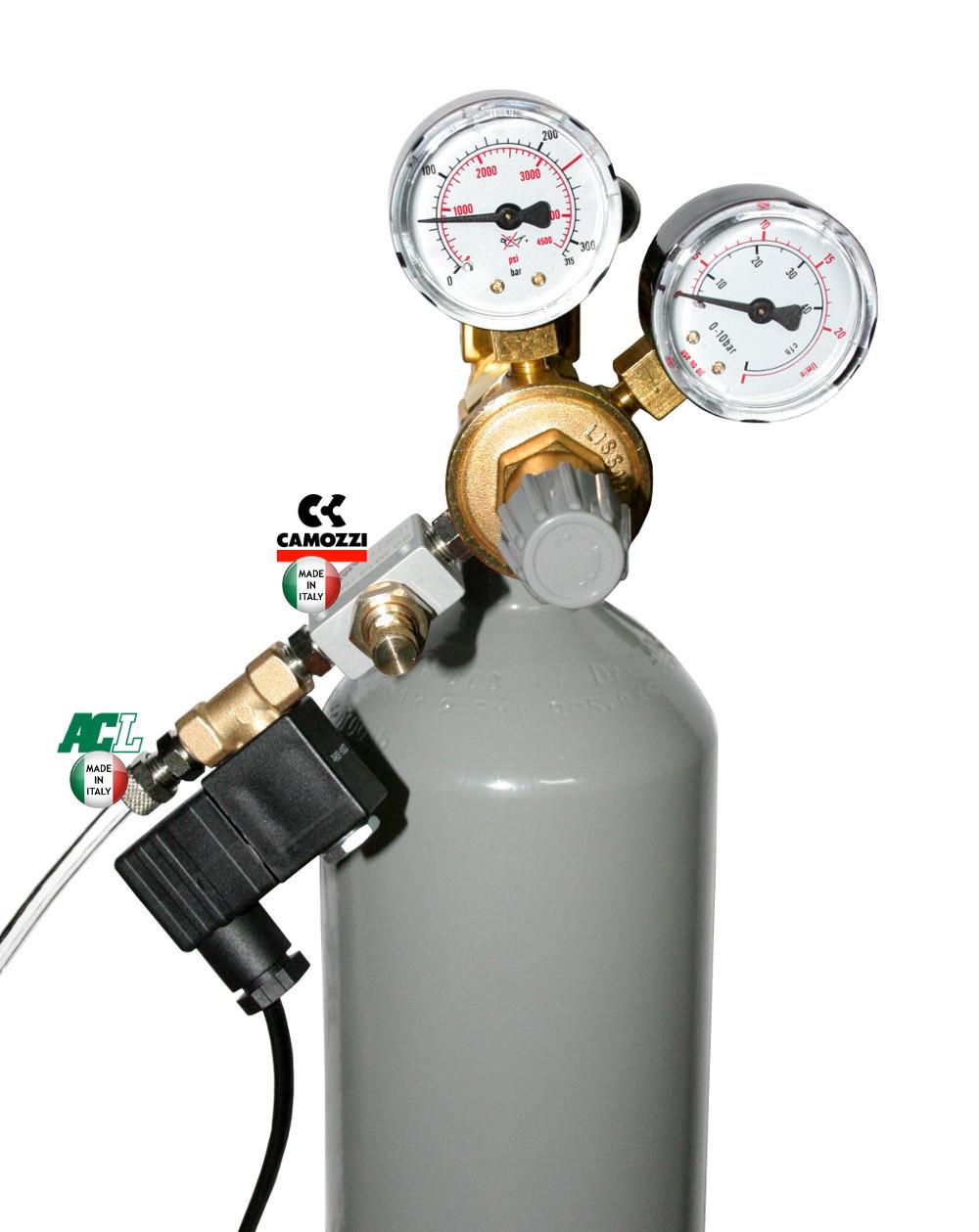 Kompletní CO2 set s 4 l lahví s nočním vypínáním s pH kontrolérem