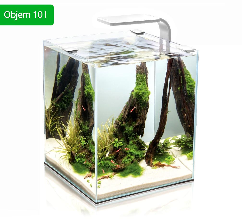 AquaEl Shrimp Smart akvarijní set 10 l bílý