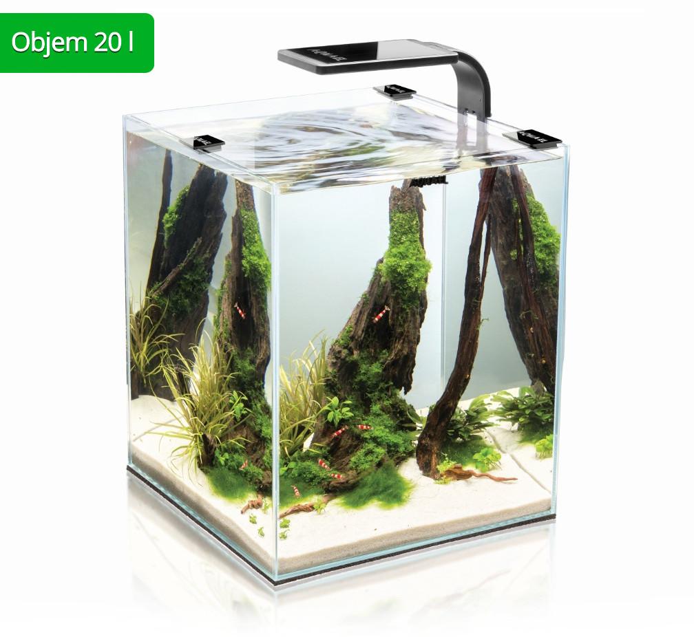 AquaEl Shrimp Smart akvarijní set 20 l černý