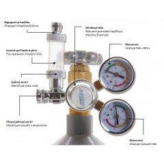 Aquario CO2 reduktor s jehlovým ventilem