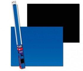 Akvarijní pozadí oboustranné černá/modrá 100x50cm