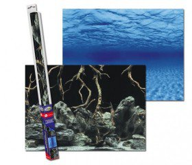 Akvarijní pozadí oboustranné kořeny/voda 100x50cm