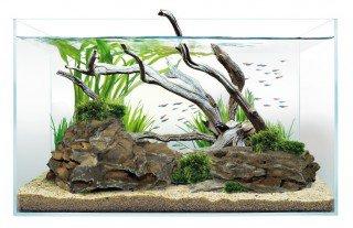 Optiwhite akvárium 45x27x30 cm, sklo 5 mm
