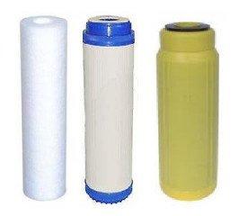 Set předfiltrů pro čtyřstupňovou reverzní osmózu s DI filtrem