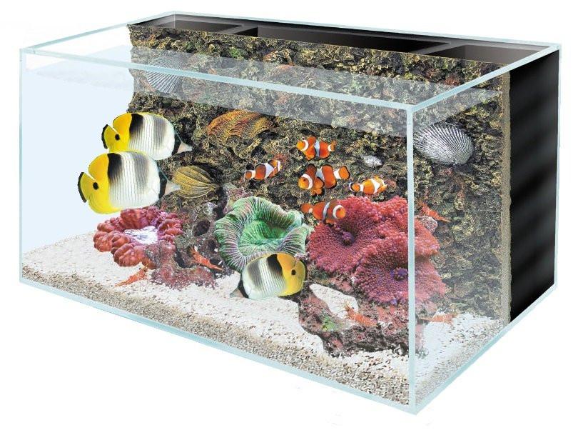 Optiwhite akvárium se zadní filtrací a pozadím 60x45x45cm