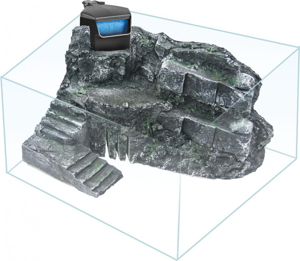 Želvárium s 3D pozadím a filtrem 36x25x27 cm