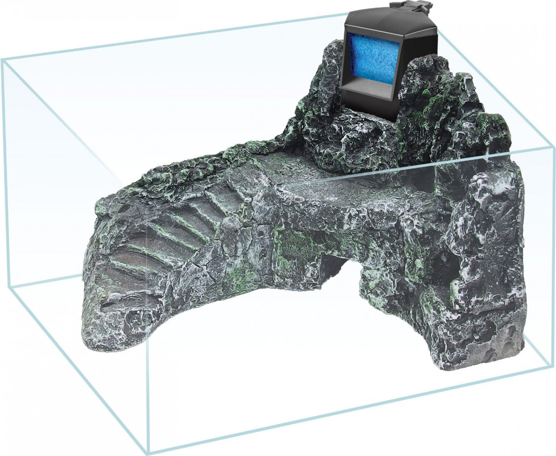 Želvárium s 3D pozadím a filtrem 30x20x22 cm